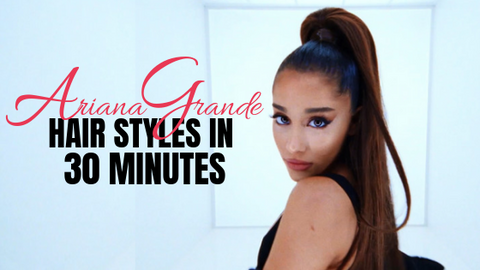 4 Ariana Grande Hair Styles You Can Do in 30 Minutes INH Hair extensions wigs