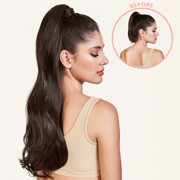 brit ponytail on model