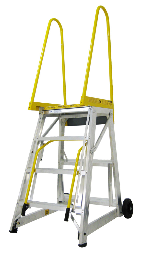 Mobiele ladder STEP-THRU - 3995 mm hoog - 159.56.77.