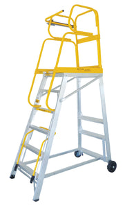 Mobiele ladder TRACKER -  2425 x 935 x 1485 mm - 159.56.03.