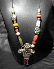 Load image into Gallery viewer, Tibetan Multistone Necklace, Vintage