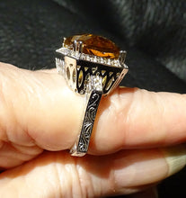 Load image into Gallery viewer, Citrine Statement Ring, Sterling Silver