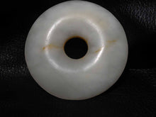 Load image into Gallery viewer, Han Jade Pendant Disk, White Nephrite, Museum Quality. 175.4 grams