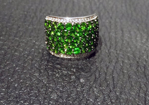 Siberian Emerald Ring Sterling Silver