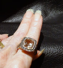 Load image into Gallery viewer, LeVian chocolate diamond morganite ring