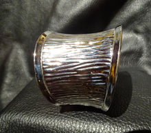 Load image into Gallery viewer, Designer Cuff Bracelet, Wide Stainless Steel, Fortuny Pleats Style