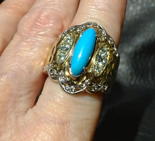 Featured Turquoise Band Ring, Sleeping Beauty Mine