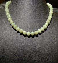 Load image into Gallery viewer, Jade Bead Necklace, Celadon Nephrite, Circa 1900