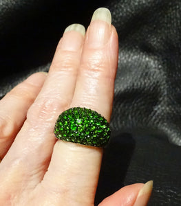 Siberian Emerald Ring, Sterling
