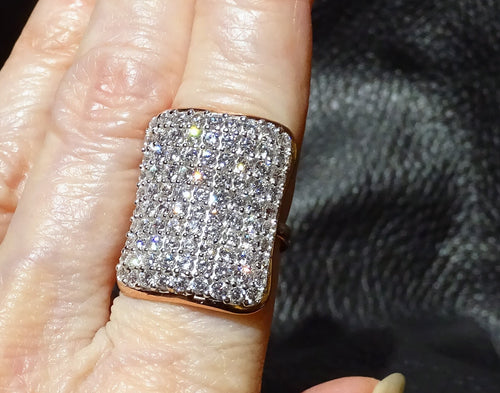 Cubic Zirconia Ring, Rose Gold over Sterling