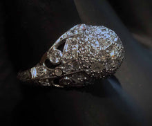 Load image into Gallery viewer, Featured Edwardian Diamond Ring, Platinum Filigree, Engagement Wedding Circa 1910