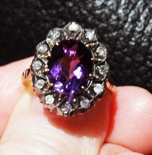 Load image into Gallery viewer, Victorian Diamond Ring, Amethyst, 18K Gold
