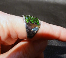 Load image into Gallery viewer, Siberian Emerald Ring Sterling Silver