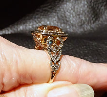 Load image into Gallery viewer, Chocolate Diamond Morganite Ring 14k Gold