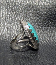 Load image into Gallery viewer, Hubei Turquoise Ring, Sterling Silver