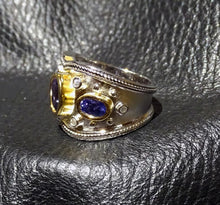 Load image into Gallery viewer, Tanzanite Ring, 2 Carats, Etruscan Style