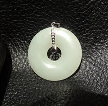 Load image into Gallery viewer, Jade Pendant, Hetian Nephrite, 14K White Gold