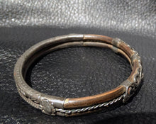 Load image into Gallery viewer, Antique Chinese Bangle, Silver and Rattan, Circa 1890