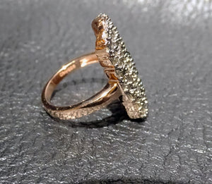 Champagne Diamond Ring,  Baguette Cut