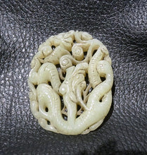 Load image into Gallery viewer, Carved Jade Pendant, Hetian Nephrite, Qing Dynasty 1800s
