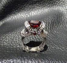 Load image into Gallery viewer, Rhodolite Garnet Ring 5.29ctw Sterling Silver