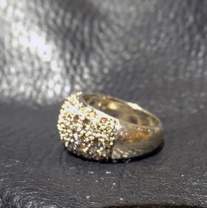 Diamond Dome Ring, 18K Gold