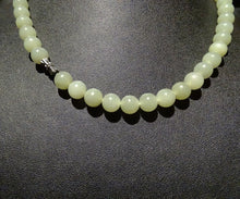 Load image into Gallery viewer, Featured Antique Jade Necklace, Celaon Nephrite, Circa 1900