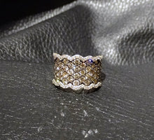 Load image into Gallery viewer, Diamond Band Ring, 2ctw Champagne and White