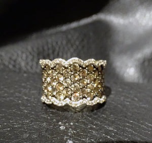 Diamond Band Ring, 2ctw Champagne and White