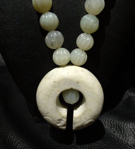 Jade Necklace, Qing Dynasty and Archaic Nephrite