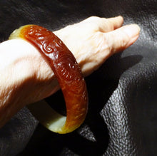 Load image into Gallery viewer, Jade Bangle Bracelet, Hetian Nephrite, Qing