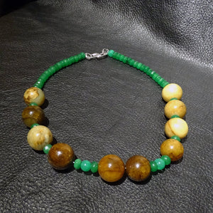 Jade Necklace, Vintage Nephrite