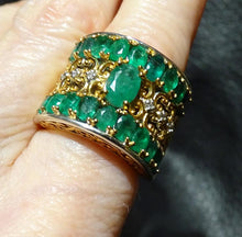 Load image into Gallery viewer, Emerald Diamond Ring, 3.86 ctw