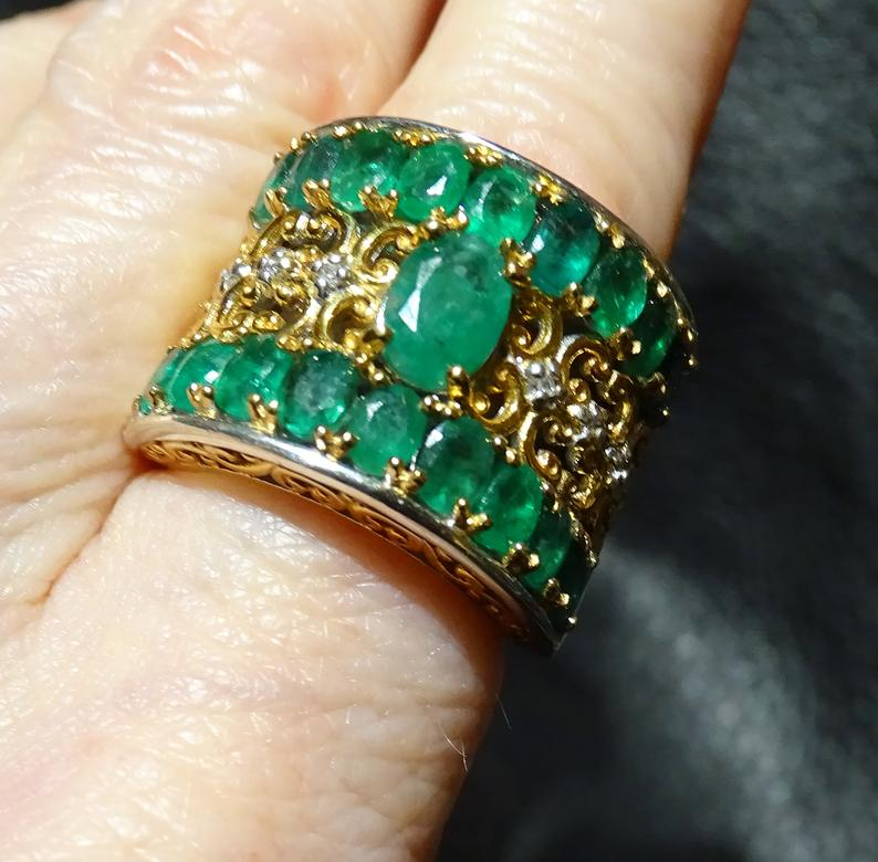 Emerald Diamond Ring, 3.86 ctw