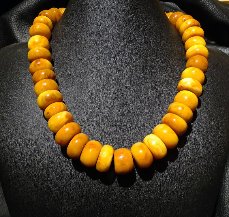 Amber Necklace, Butterscotch Vintage