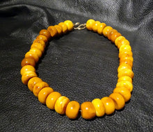 Load image into Gallery viewer, Amber Necklace, Butterscotch Vintage