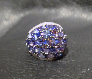Tanzanite Dome Ring, 7.20ctw