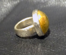 Load image into Gallery viewer, Designer Statement Ring, 24K Gold, Sterling Silver