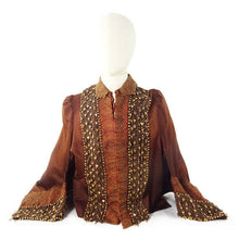 Load image into Gallery viewer, Beaded Silk Jacket, Victorian, Museum Quality, Beaded Silk, 1800s Mint Condition