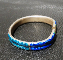 Load image into Gallery viewer, Chinese Enamel Bangle Bracelet, Antique Qing Dynasty 1800s