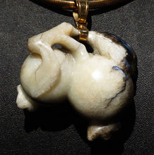 Load image into Gallery viewer, Jade Pomegranates Pendant,  22K Gold, Antique Hetian Nephrite,  Qing Dynasty 1800s,  70.6 Grams