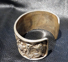 Load image into Gallery viewer, Wide Silver Cuff Bracelet, Balinese, Vintage, Ornate Repousse