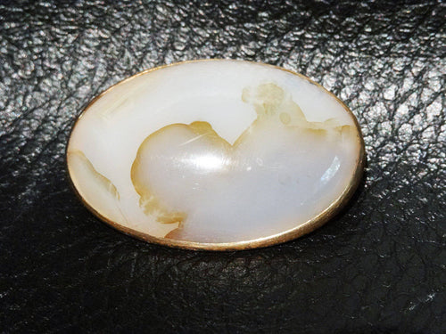 14K Agate Brooch, Rose Gold, Victorian 1860s