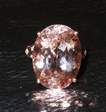 Load image into Gallery viewer, Featured 16.5 Carat Morganite 14K Ring, Rose Gold,  Diamonds Spectacular Engagement