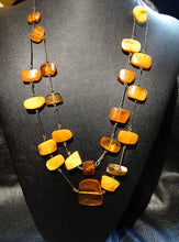 Load image into Gallery viewer, Baltic Amber Necklace, Butterscotch Color, Vintage 41 grams