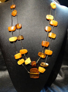 Baltic Amber Necklace, Butterscotch Color, Vintage 41 grams