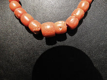 Load image into Gallery viewer, Antique Coral Necklace Natural Color 14K Gold Safety Clasp
