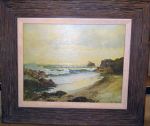 Load image into Gallery viewer, Robert Wood Seascape Painting Oil on Canvas Mid-20th Century Laguna Beach Period