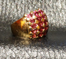 Load image into Gallery viewer, Rhodolite Garnet Dome Ring Sterling Silver