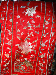 Featured Embroidered Mandarin Skirt, Qing Dynasty 1850s, Handmade PHENOMENAL CONDITION